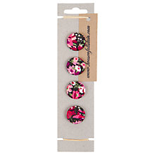 Buy House of Alistair Manuela Floral Printed Fabric Buttons, Pack of 4, 26mm Online at johnlewis.com