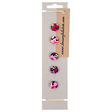 Buy House of Alistair Manuela Floral Printed Fabric Buttons, Pack of 5, 16mm Online at johnlewis.com