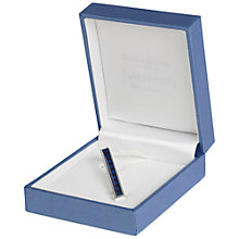 Buy Simon Carter for John Lewis Silver Plated Enamel Tie Slide, Navy Online at johnlewis.com