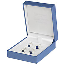 Buy Simon Carter for John Lewis Silver Plated Dress Studs, Silver/Blue Online at johnlewis.com