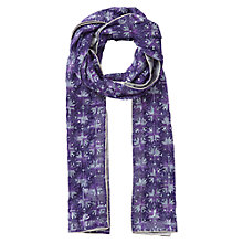 Buy East Embroidered Sequin Scarf, Aubergine Online at johnlewis.com