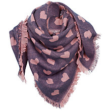 Buy Fat Face Heart Square Scarf, Light Navy Online at johnlewis.com