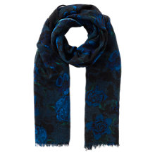 Buy East Alexandra Wool Scarf, Cobalt Online at johnlewis.com
