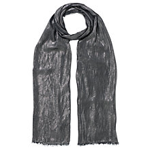 Buy East Metallic Scarf, Silver Online at johnlewis.com