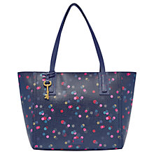 Buy Fossil Emma Tote Bag, Navy Online at johnlewis.com