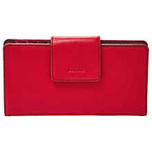 Buy Fossil Emma Leather Tab Purse Online at johnlewis.com
