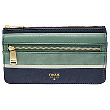 Buy Fossil Preston Flap Leather Clutch Purse Online at johnlewis.com