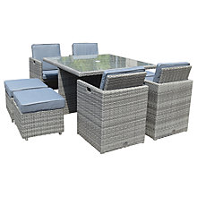 Buy Royalcraft Windsor 8 Seater Cube Set, Grey Online at johnlewis.com