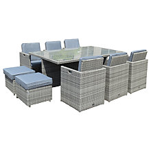Buy Royalcraft Windsor 10 Seater Cube Set, Grey Online at johnlewis.com