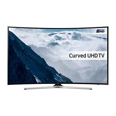 "Samsung UE40KU6100 Curved HDR 4K Ultra HD Smart TV, 40"" with Freeview HD, Playstation Now & PurColour"
