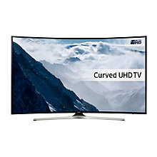 "Buy Samsung UE49KU6100 Curved HDR 4K Ultra HD Smart TV, 49"" with Freeview HD, Playstation Now & PurColour Online at johnlewis.com"