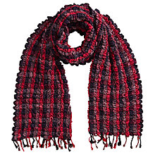 Buy East Woven Ruched Scarf, Pink Online at johnlewis.com