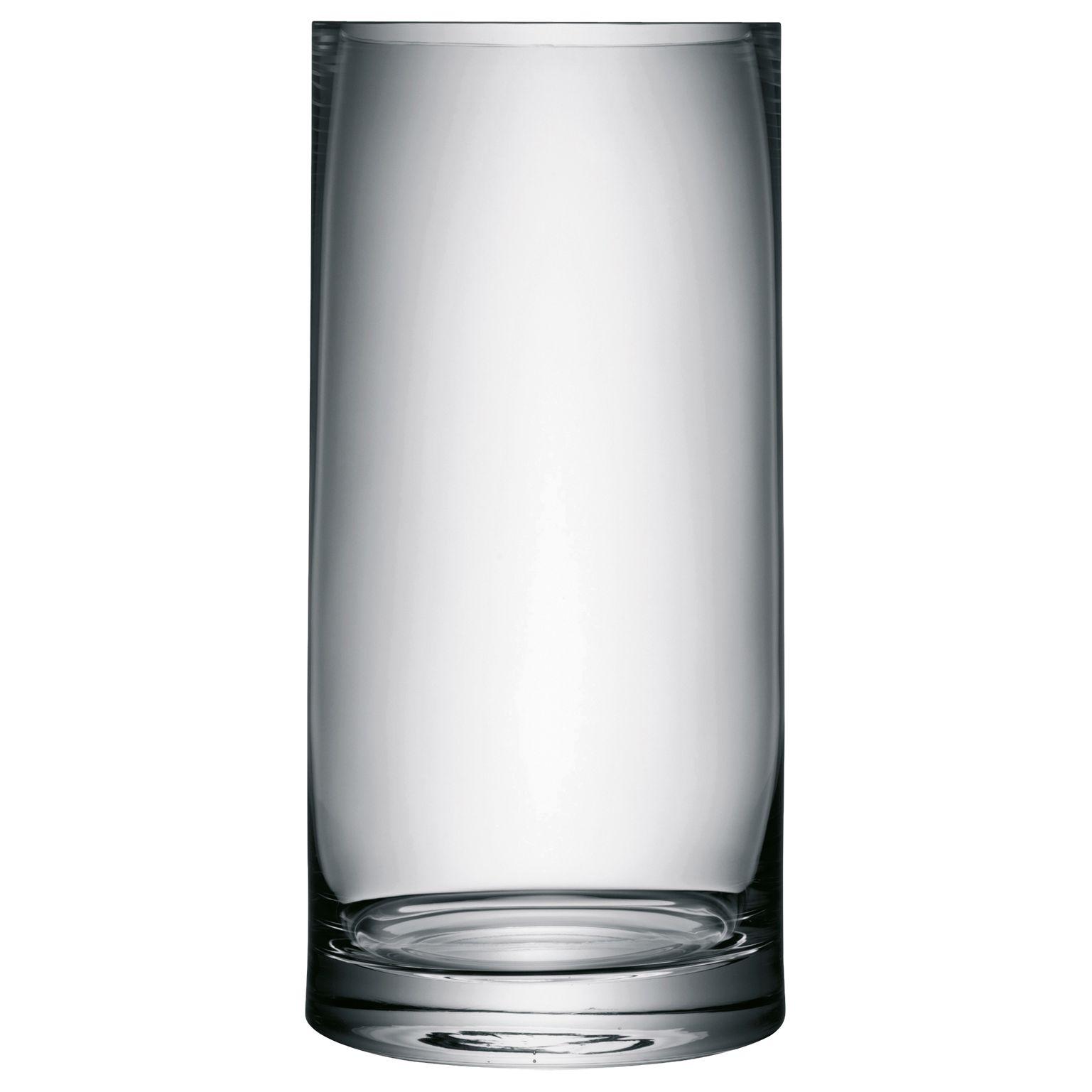 LSA International LSA International Column Vase, H36cm, Clear