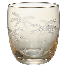 Buy John Lewis Gold Luster Palm Tree Cut Tumbler Online at johnlewis.com