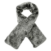 Buy Oasis Faux Fur Stole, Mid Grey Online at johnlewis.com