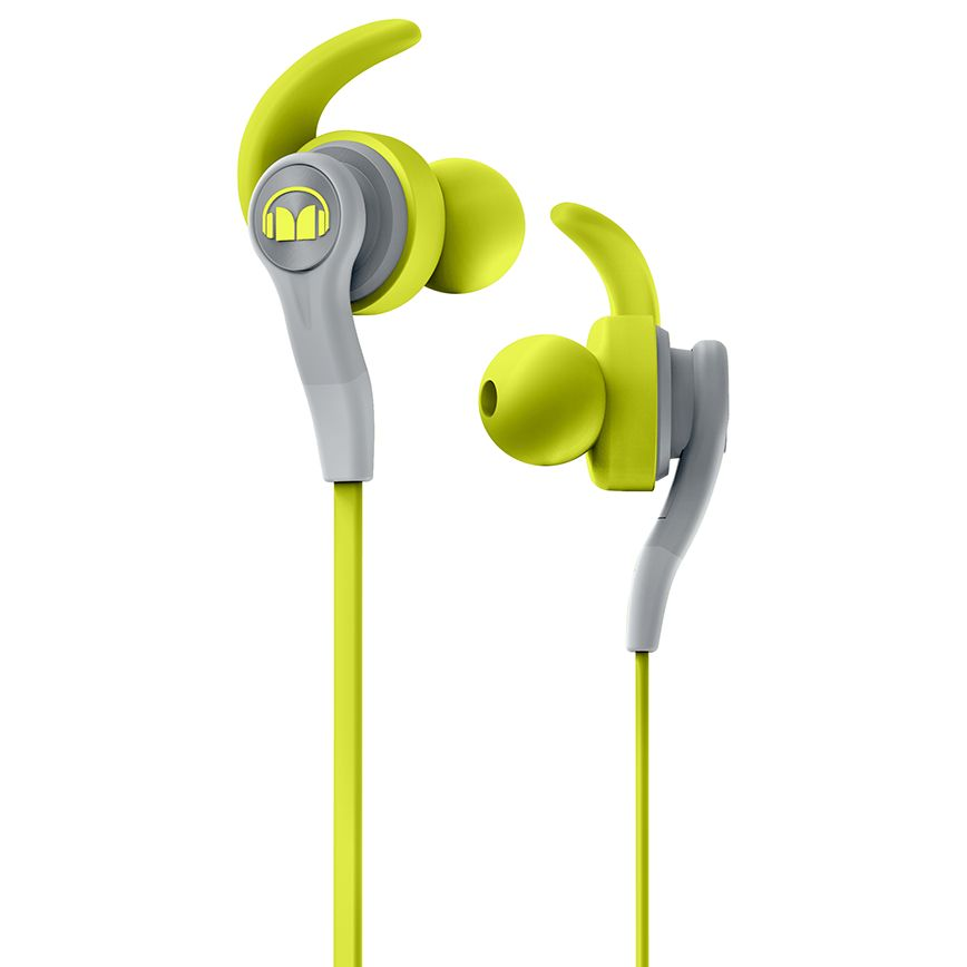 Monster Monster iSport Compete In-Ear Headphones with ControlTalk Mic/Remote, Neon Green