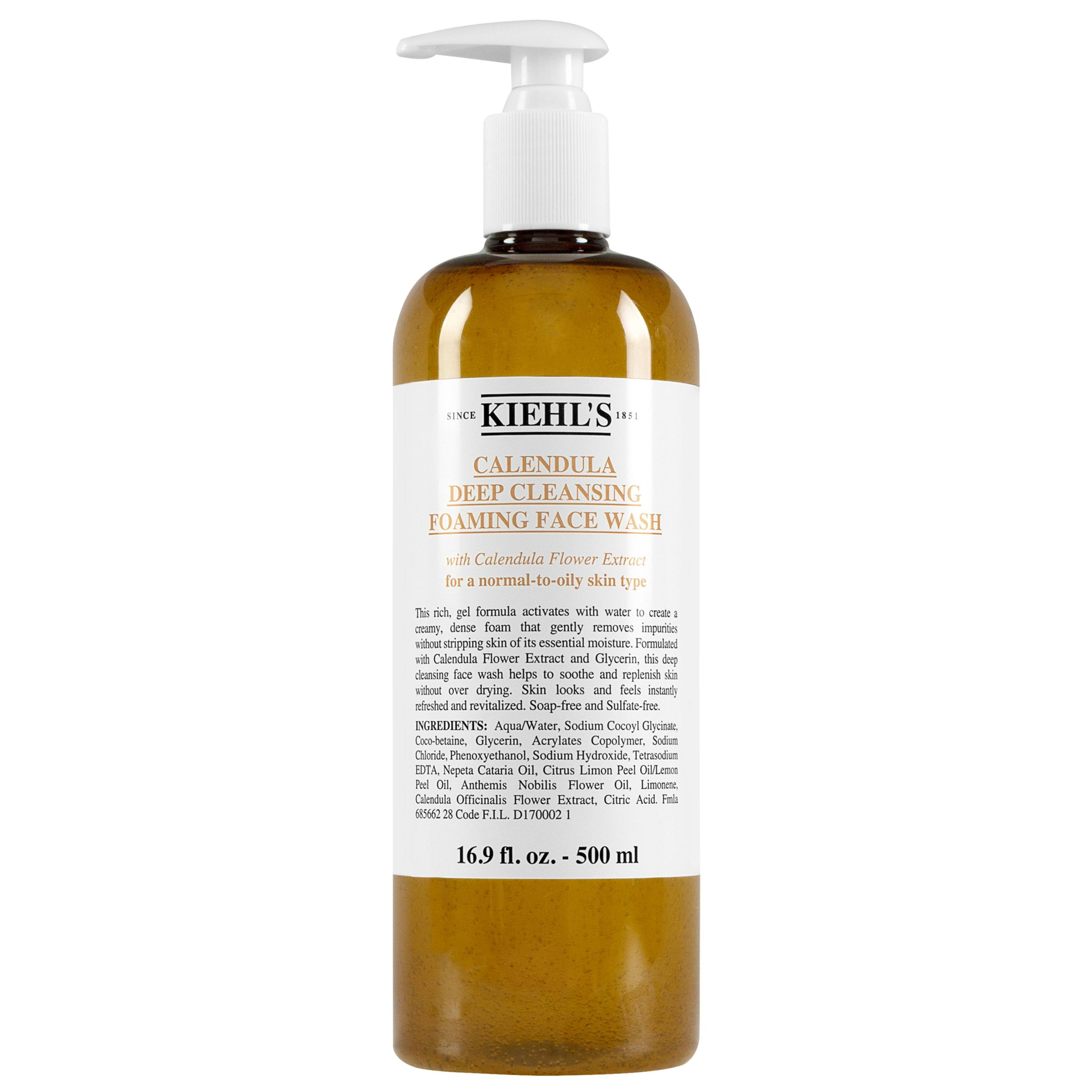 Kiehls Kiehl's Calendula Deep Cleansing Foaming Face Wash, 500ml