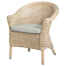 Buy 4 Seasons Outdoor Valentine Round Back Garden Dining Chair, Pure Online at johnlewis.com