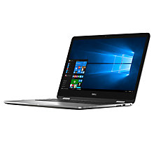 "Buy Dell Inspiron 17 7000 Series Convertible Laptop, Intel Core i7, 16GB RAM, 1TB HDD + 128GB SSD, 17.3"", Silver Online at johnlewis.com"