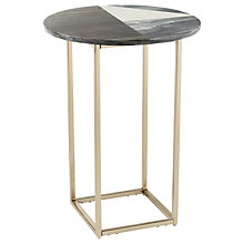 Buy west elm Marquetry Marble Side Table Online at johnlewis.com