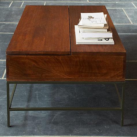 buy west elm industrial storage coffee table john lewis With industrial storage coffee table west elm review