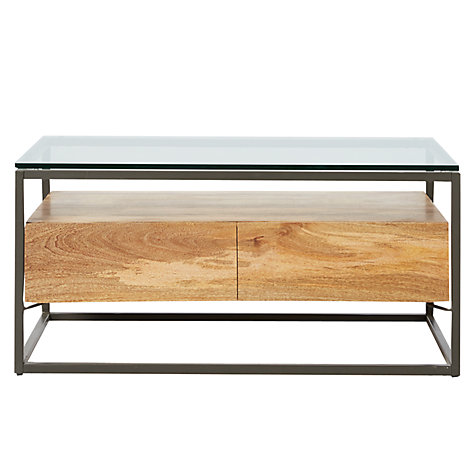 Buy West Elm Industrial Storage Box Frame Coffee Table John Lewis