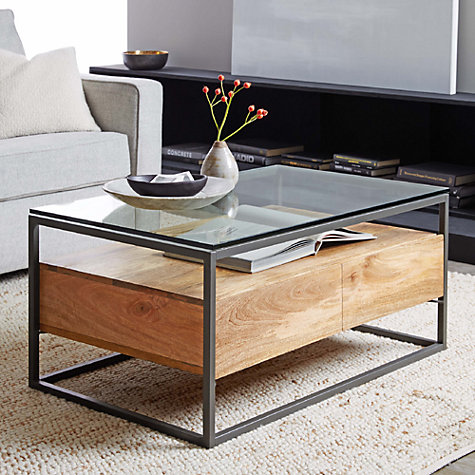 buy west elm industrial storage box frame coffee table With industrial storage coffee table west elm