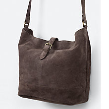 Buy Fat Face Slouchy Suede Across Body Bag Online at johnlewis.com