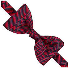 Buy Thomas Pink Hector Herringbone Self Tie Silk Bow Tie, Red/Navy Online at johnlewis.com