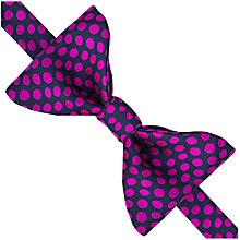 Buy Thomas Pink Beccles Spot Self Tie Silk Bow Tie, Navy/Pink Online at johnlewis.com