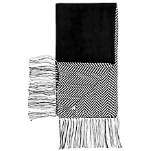 Buy Thomas Pink Coliston Herringbone Silk Scarf, Black/White Online at johnlewis.com
