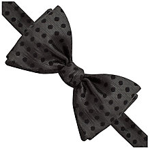 Buy Thomas Pink Bilson Spot Self Tie Bow Tie, Black Online at johnlewis.com