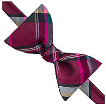 Buy Thomas Pink Grinstead Check Self Tie Silk Bow Tie, Deep Pink/Green Online at johnlewis.com