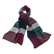 Buy Thomas Pink Askew Check Wool Cashmere Scarf, Deep Green/Blue Online at johnlewis.com