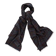 Buy Thomas Pink Kipling Check Wool Scarf, Black/Multi Online at johnlewis.com