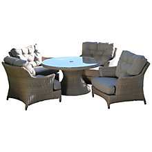 Buy 4 Seasons Outdoor Valentine 'Cosy Living' Garden Table & Chairs Set, Low Back Design Online at johnlewis.com