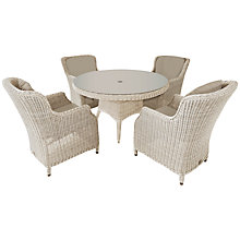 Buy 4 Seasons Outdoor Valentine High Back 4 Seater Garden Dining Set Online at johnlewis.com