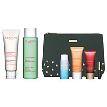 Buy Clarins Toning Lotion and Cleanser, Combination Skin, with Gift Online at johnlewis.com