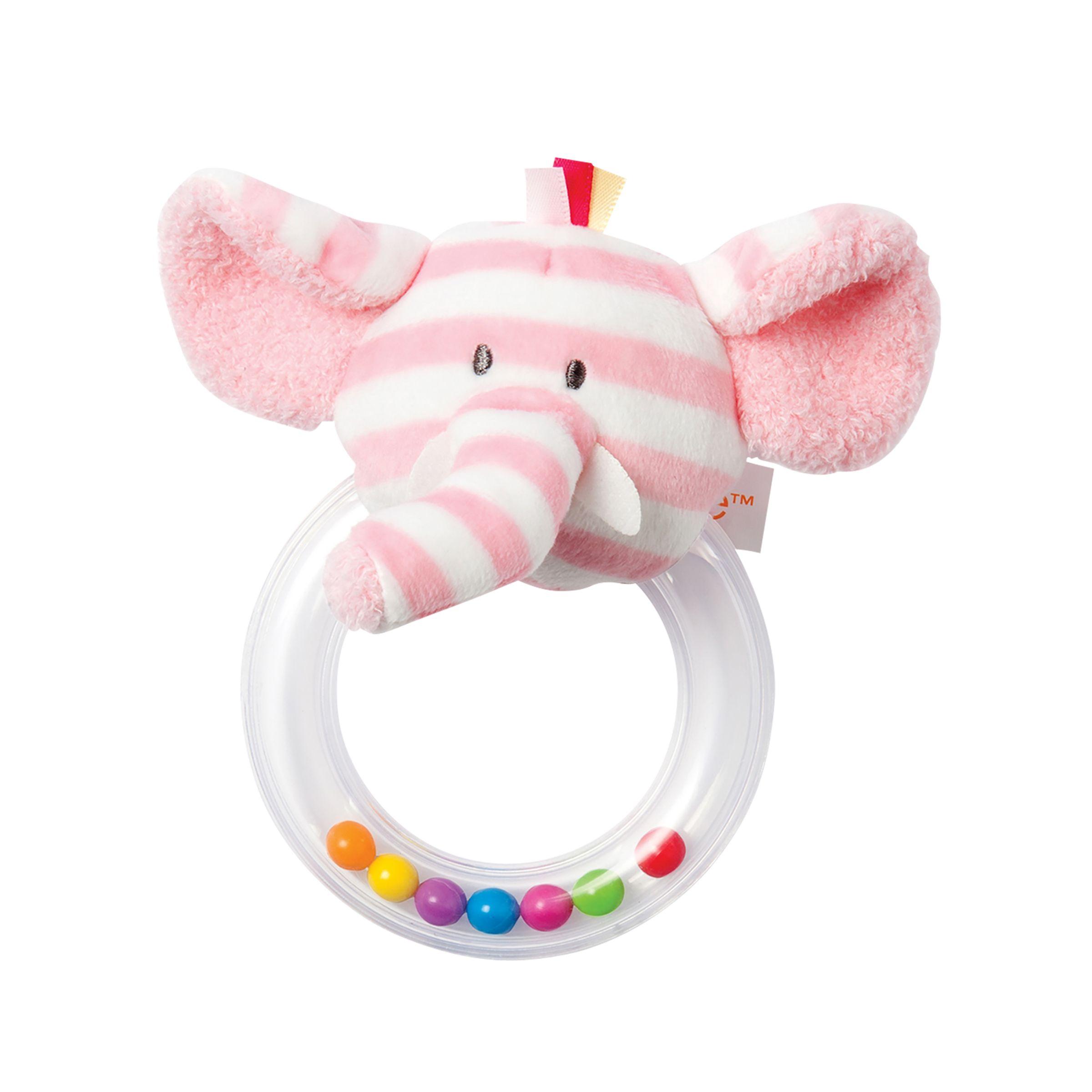 Manhattan Toy Manhattan Toy Giggle Elephant Soft Toy Ring Rattle