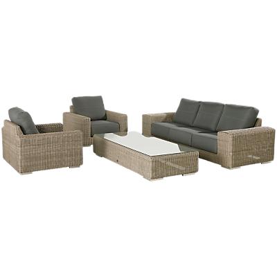 4 Seasons Outdoor Kingston 6 Seater Garden Lounge Set, Pure