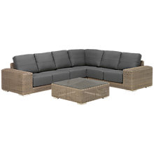 Buy 4 Seasons Outdoor Kingston 5 Seater Modular Set, Pure Online at johnlewis.com