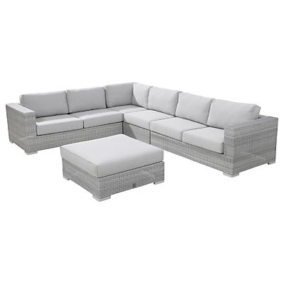 4 Seasons Outdoor Lucca 6 Seater Modular Lounge Set, Light Grey