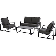 Buy 4 Seasons Outdoor Mauritius 4 Seat Lounging Set, White / Slate Grey Online at johnlewis.com