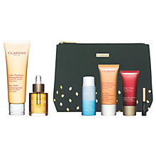 Buy Clarins Cleansing Gel and Treatment Oil with Gift Online at johnlewis.com