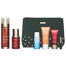 Buy Clarins Double Serum and Super Restorative Total Eye Concentrate with Gift Online at johnlewis.com