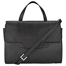 Buy Kin by John Lewis Dillon Leather Workwear Across Body Bag, Black Online at johnlewis.com