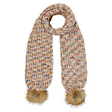 Buy White Stuff Chunky Space Dye Pom Scarf, Multi Online at johnlewis.com