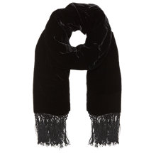 Buy Jacques Vert Velvet Tassel Stole, Black Online at johnlewis.com