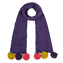 Buy White Stuff Pom Pom Scarf, Multi Online at johnlewis.com