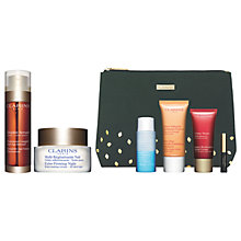 Buy Clarins Double Serum and Night Rejuvenating Cream with Gift Online at johnlewis.com